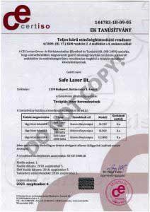 Safe Laser orvostechnikai minősítés